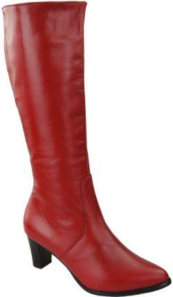 0da85c97 Obuwie Kozaki Damskie skóra naturalna 982 ElitaBut - Czerwone