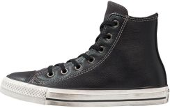 Converse CHUCK TAYLOR ALL STAR HI LEATHERSUEDE DISTRESSED Tenisówki i Trampki wysokie blackwhite dust