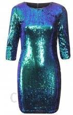 245363fe73 Sukienka kameleon mini cekinowa na sylwestra - Ceny i opinie - Ceneo.pl
