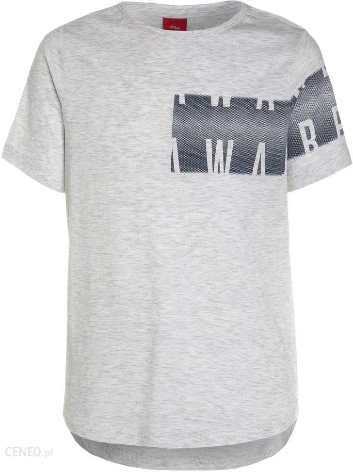 ca6465a579 S.Oliver RED LABEL KURZARM Tshirt z nadrukiem white melange - Ceny i ...