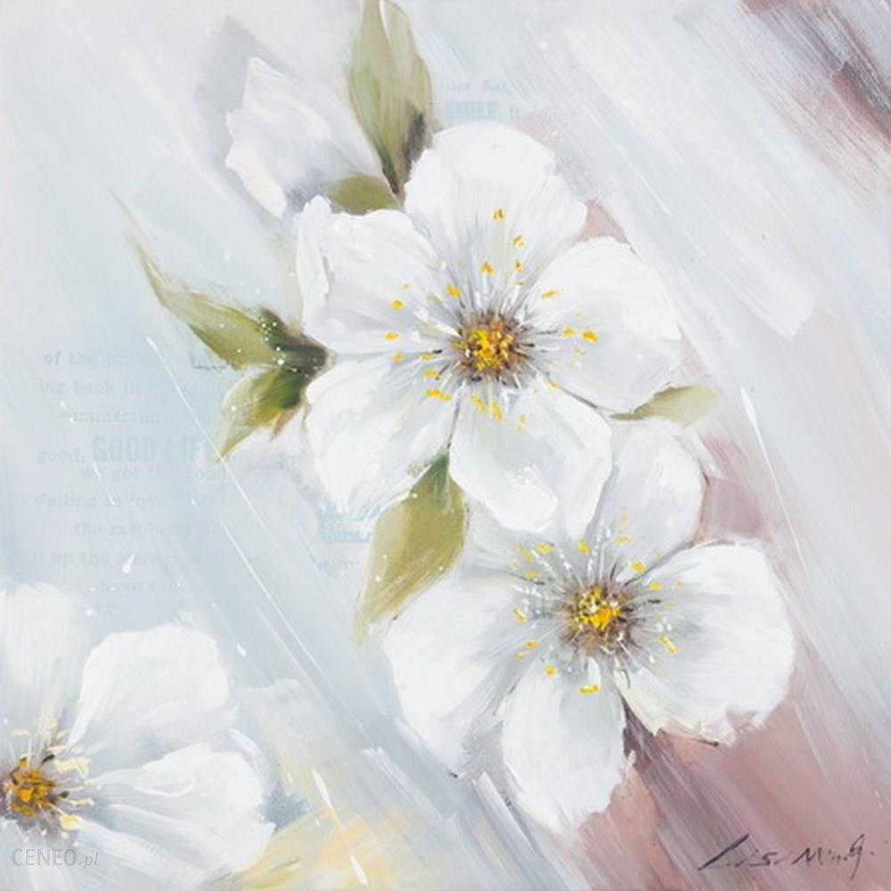 Nowość Obraz Cherry 1b 60x60 ręcznie malowany kwiaty na płótnie UX68