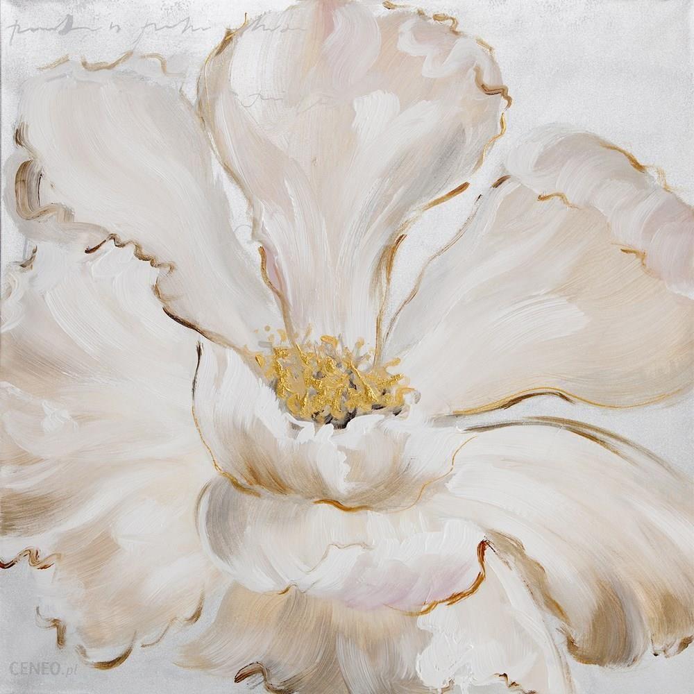 Modernistyczne Obraz Delight 60x60 ręcznie malowany kwiat na płótnie Eurofirany US74