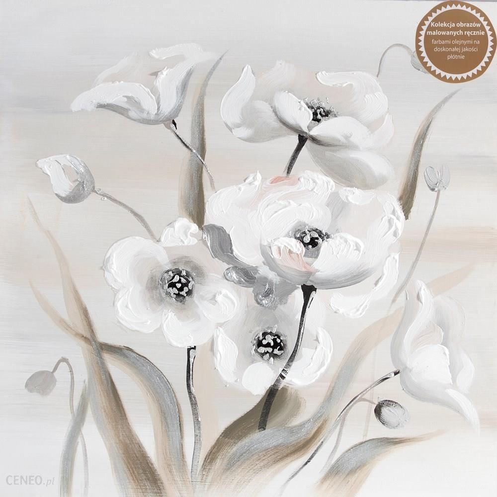 Młodzieńczy Obraz Kwiaty 9 60x60 ręcznie malowany Eurofirany - Opinie i MC19