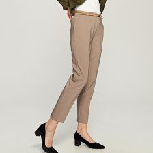 02f9d1128f05a0 Reserved - Eleganckie spodnie - Beżowy - Ceny i opinie - Ceneo.pl
