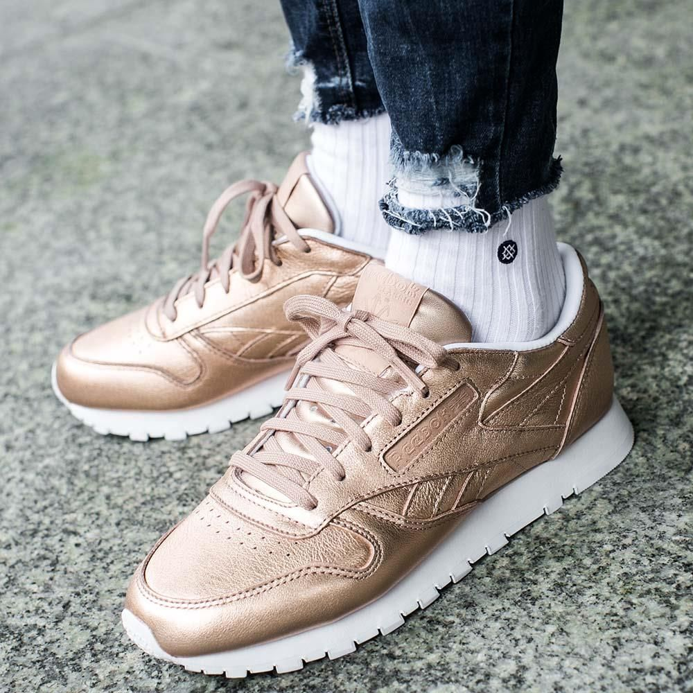 Buty Reebok Classic Leather Melted Metal Pearl Met Peach