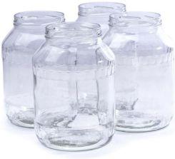 Delhan Duże Słoiki Szklane Gloss 265 L 4 Szt Opinie I Atrakcyjne Ceny Na Ceneopl