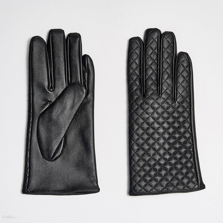 fde2fc3336389 Sinsay - Pikowane rękawiczki z eko skóry - Czarny - Ceny i opinie ...