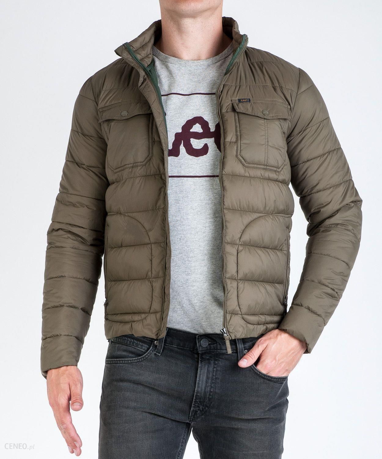 Lee Light Puffer L89H Military Green XL Ceny i opinie Ceneo.pl