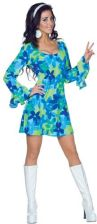 70s Wild Flower Dress Costume UN29412XS