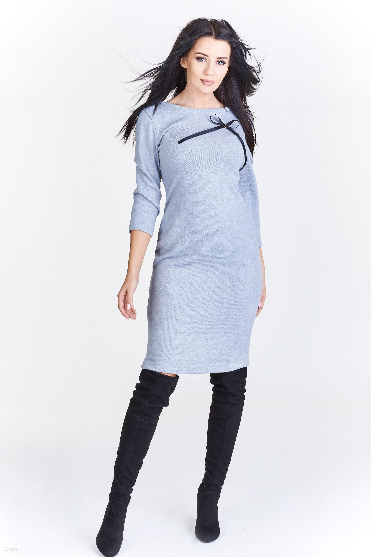 6aaf47b4 PtakModa - Ołówkowa sukienka z rękawem 3/4 LA BLANCHE