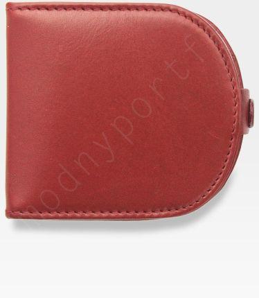 9f56bf85f177d Visconti Podkówka Portfel Męski Skórzany Wysokiej Jakości Skóra Czerwony