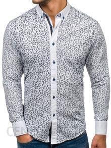70ab128515737f Koszula męska we wzory z długim rękawem granatowa Bolf 6926 - Ceny i ...