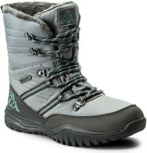 319e1e152 Śniegowce KAPPA - Balto Tex 242364 Grey/Mint 1637 eobuwie