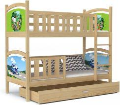 łóżko Piętrowe Dla Dzieci Z Kolorową Grafiką Tami