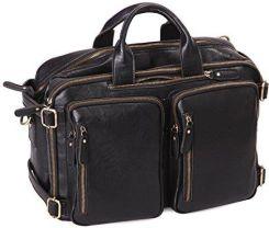 990a68fafe1f2 Amazon leathario torba męska na torba skórzana Vintage prawdziwa skóra aktówka  torba na dokumenty tornister College torba torba na ramię torba do prac