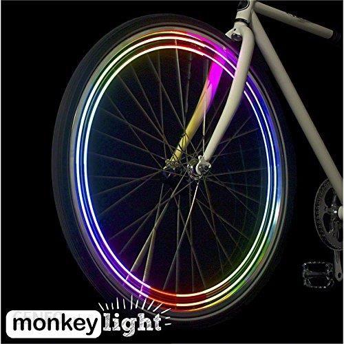 Amazon Tematy Monkey Light M204 40 Lumenów światła Szprychy 4 W Pełni Kolorowe Bardzo Jasne Diody Led 5 Wodoszczelna Ceneopl