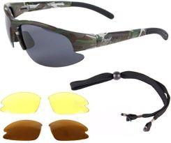 e835d77607 Amazon Catch Pro okulary polaryzacyjne okulary maskowanie wędkarzy strzelectwem  z wymiennymi szkłami latać łowić ryby