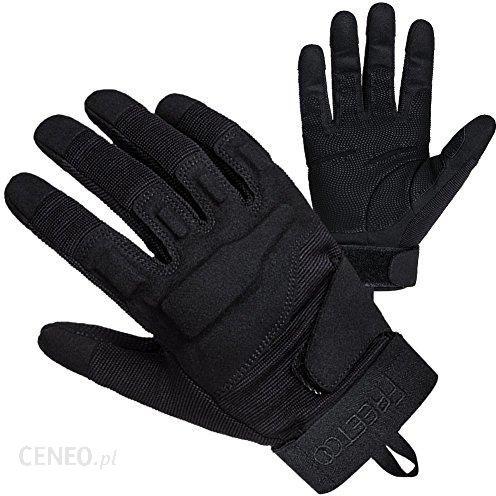 5b89d925c09702 Amazon Free Too męskie rękawiczki sportowe, skórzany pokrowiec ze skóry  PU/Nylon, czarna