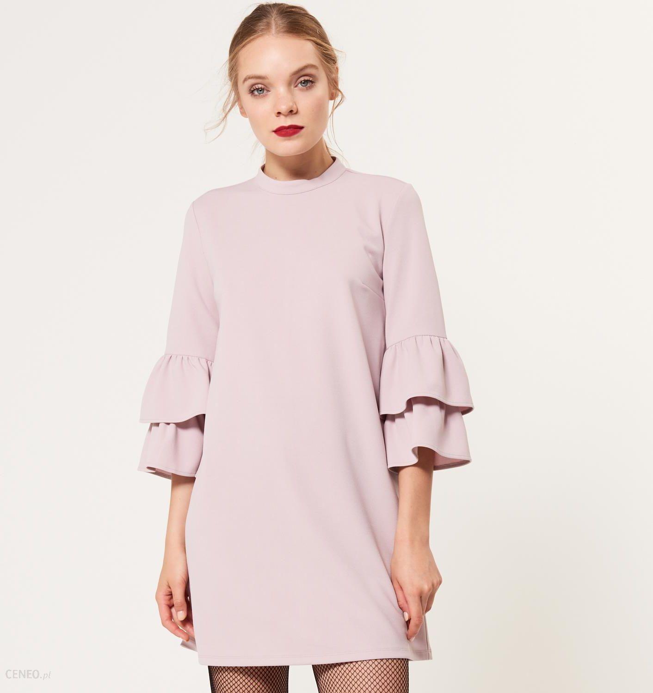 837a095cf9 Mohito - Sukienka z rozkloszowanymi rękawami - Różowy - Ceny i ...