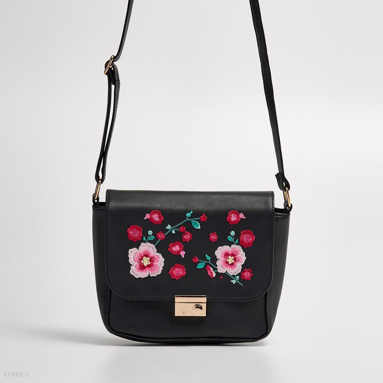 dfdca2302ede7 Sinsay - Torebka z kwiatowym haftem - Czarny - Ceny i opinie - Ceneo.pl