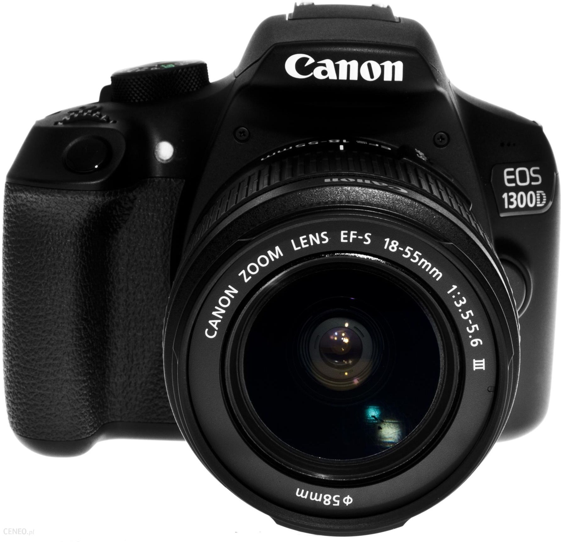 Lustrzanka Canon EOS 1300D Czarny 18 55mm 50mm 70 300mm