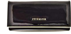 03f970ef299eb Peterson Portfel Skórzany Damski Czarny Długi Logo - Ceny i opinie ...