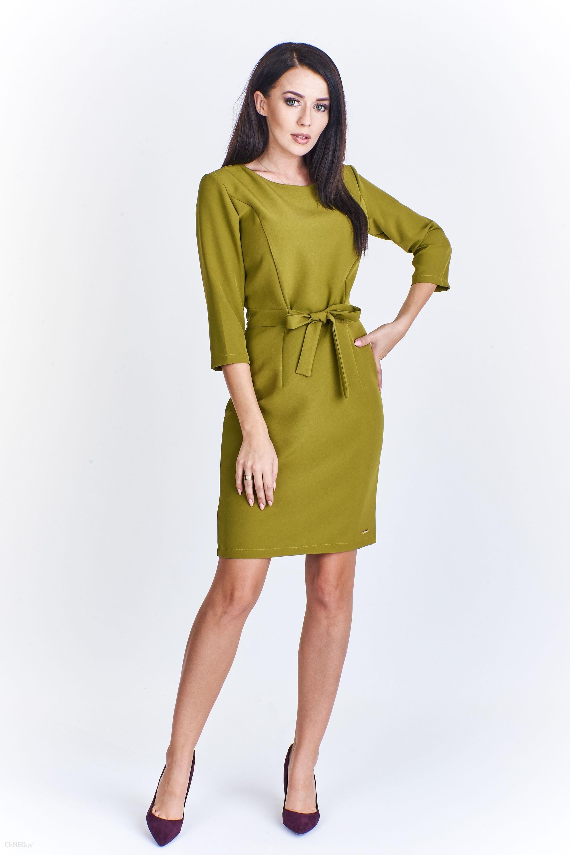 5a7559c53a PtakModa - Wizytowa sukienka wiązana w pasie ADIKA - Ceny i opinie ...