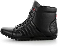 Czarne sportowe buty za kostkę ze skóry licowej SALA