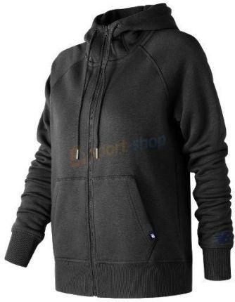 13024857e Bluza z kapturem damska Essentials Full Zip Hoodie New Balance (czarna)