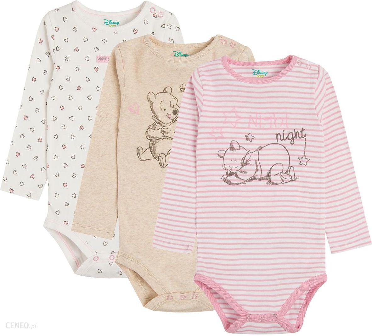 93ac33fe3a1b45 Cool Club, Body niemowlęce z długim rękawem, Kubuś Puchatek, 3 szt ...