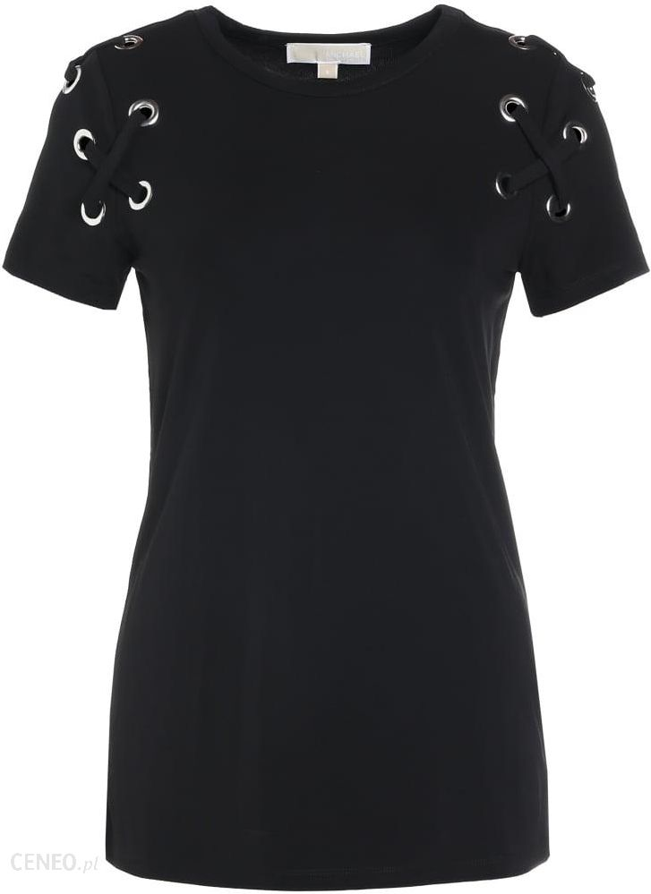 5b32c1d1917da MICHAEL Michael Kors ARMHOLE LACING Tshirt z nadrukiem black - zdjęcie 1