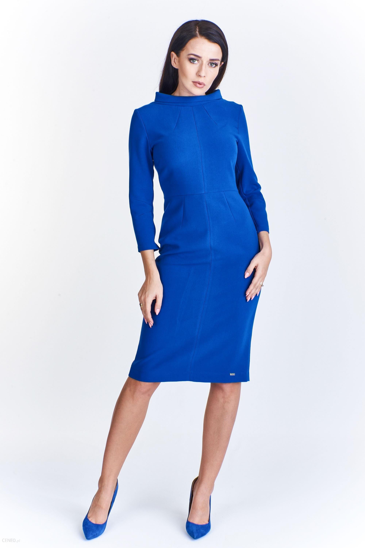 ce5266c4a3 PtakModa - Ołówkowa sukienka ze stójką przy dekolcie KLAUDIA STYL - zdjęcie  1