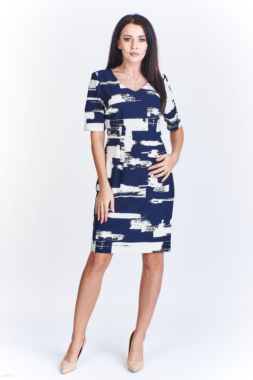 20e4fd7395 PtakModa - Taliowana sukienka z rękawem do łokcia KMX FASHION - zdjęcie 1