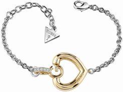 81526018ab003 Guess Jewellery Biżuteria Damska Gisele Bold G Heart Bracelet Ubb83007-L