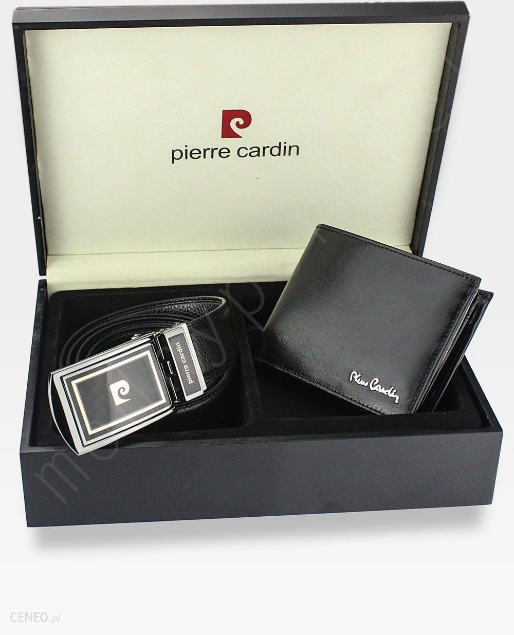 a3fa8209d38e7 Zestaw Prezentowy Pierre Cardin Pasek i Portfel w drewnianym pudełku na  prezent 8806 - zdjęcie 1