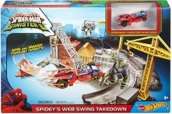 Mattel Hot Wheels Spiderman Tor Pajęczy Atak Dnf94