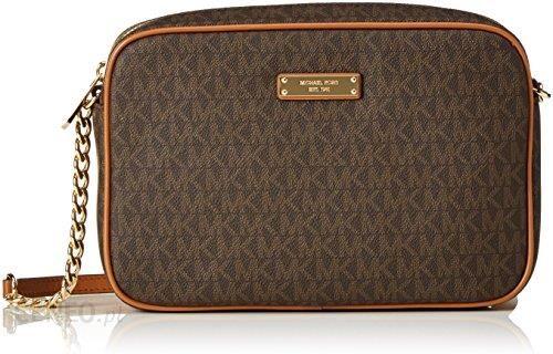 3085752711f3b Amazon Michael Michael Kors damska torba na logo JET SET Cross Body Brown,  kolor: