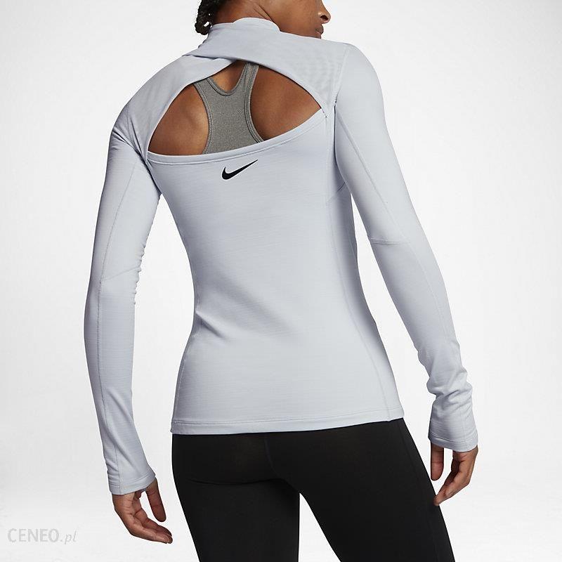 Nike Koszulka Termoaktywna Damska Nike Pro All Over Long Sleeve Top 889536 010 Biały Ceny i opinie Ceneo.pl