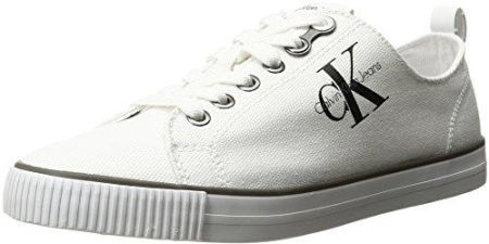 10d48f7a7c121 Amazon Buty sportowe Calvin Klein Jeans DORA CANVAS dla kobiet, kolor: biały,  rozmiar