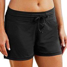 eef713eb6e3130 Amazon Char mleaks damskie spodenki szorty kąpielowe pływające Sport,  kolor: czarny, rozmiar: large