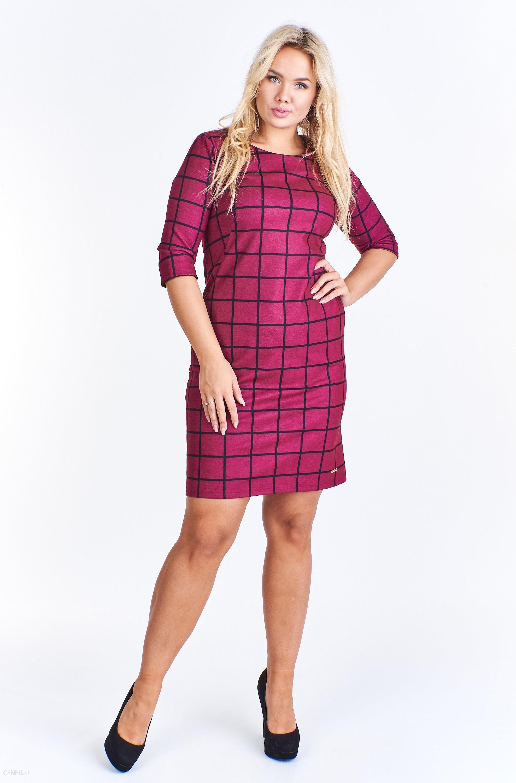 00f9fc577e PtakModa - Kraciasta sukienka z kieszeniami ADIKA - Ceny i opinie ...