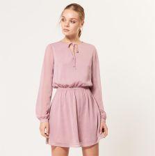 f2199eb37f Mohito - Romantyczna sukienka z kreszowanego szyfonu - Różowy - Ceny ...