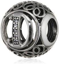 689e818f3d3b7 Amazon Pandora 79184XCZ charms do bransoletki, litera w stylu vintage,  srebro, srebro