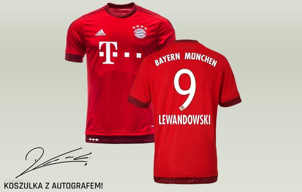 0159d8cc431e78 Adidas Koszulka FC BAYERN MONACHIUM 15/16 H LEWANDOWSKI AUTOGRAF  (S14294_RL9) - zdjęcie