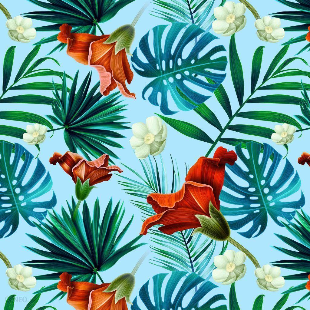 La Millou Bambudowa Poduszka Do Eczka 40x60 Blue Hawaiian Flowers