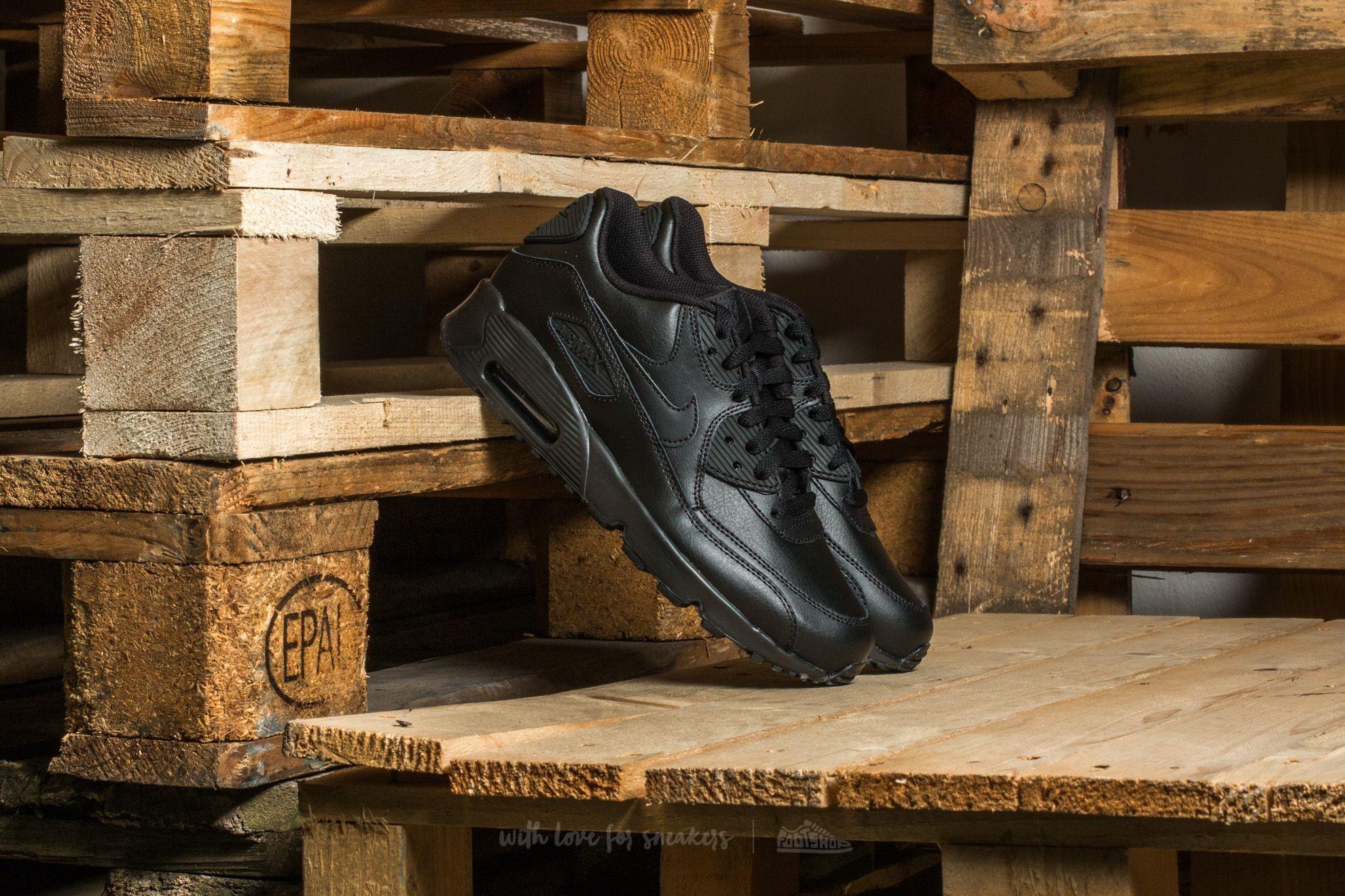 Nike Air Max 90 Leather (GS) Black Black