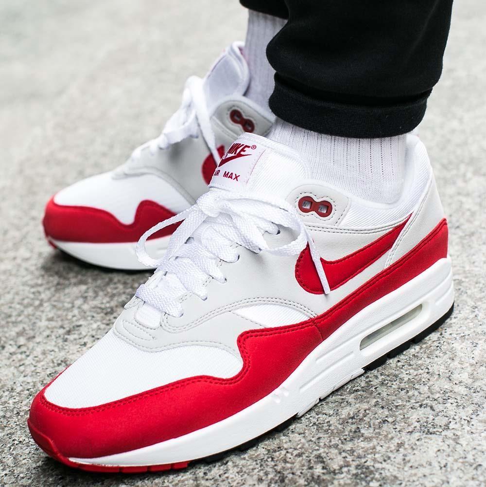 buty air max 1 czerwono białe 40