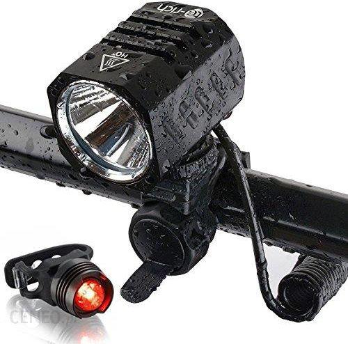 Amazon Oświetlenie Led Do Roweru światło Led Wskaźnik Naładowania Baterii 1200 Lm 4 źródła światła Sportowy Rower Lamp Usb ładowanie Akumulatora