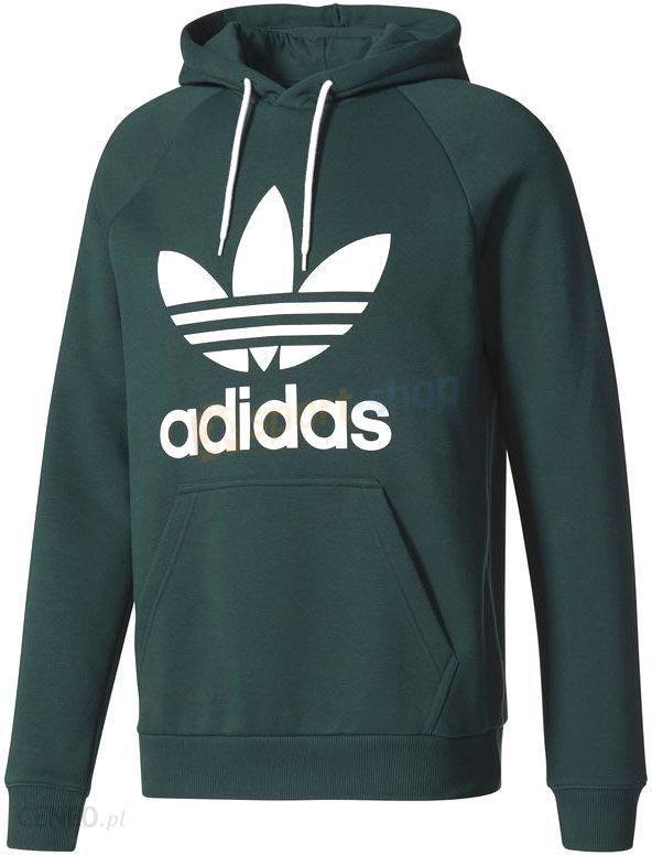 Bluza z kapturem męska Trefoil Hoodie Adidas Originals (ciemnozielona)