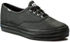 2ceef7605757d Tenisówki KEDS - Triple Leather WH55749 Blk/Blk eobuwie